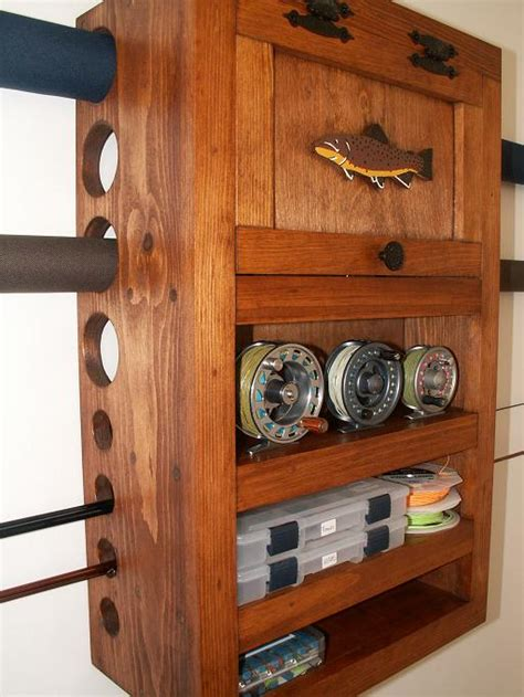 diy fishing rod storage cabinet tools frankenfly