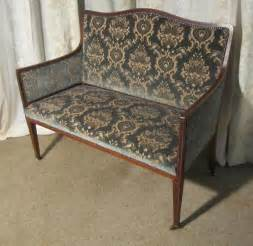 edwardian sofa charming edwardian upholstered mahogany sofa antiques atlas