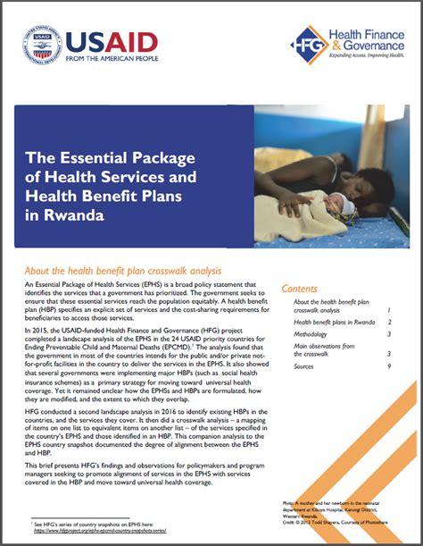 essentials of health policy and essential health essential health services rwanda hfg