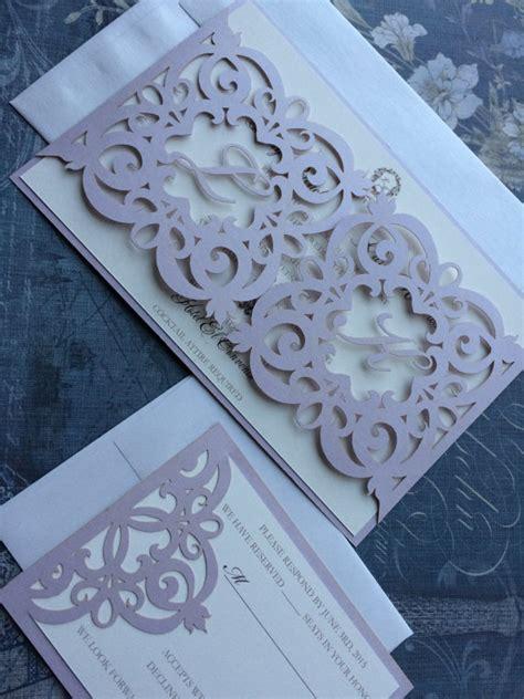 laser printed wedding invitations laser cut wedding invitation monogram iron gate bi folding pattern custom luxury
