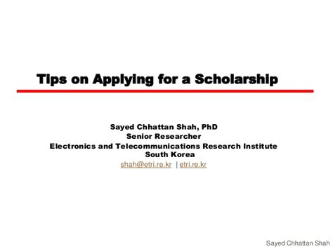 application letter for a phd scholarship