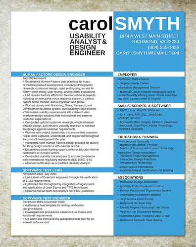 resume design for it engineer flickr photo
