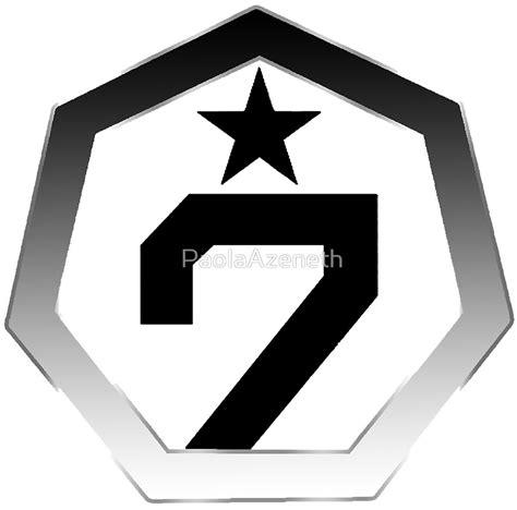 Studio Flat quot got7 logo quot art prints by paolaazeneth redbubble