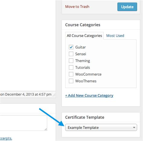 Sensei Certificates Woocommerce Docs Default Template