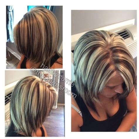 platinum highlights on dark brown hair chunky highlights and lowlights platinum hair dark brown
