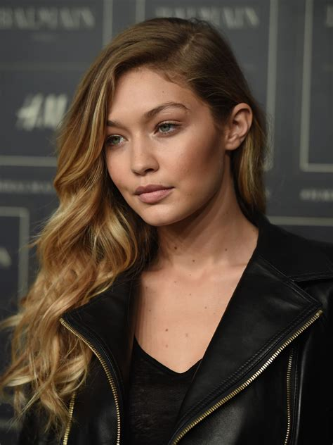 gigi hadid gigi hadid balmain x h m collection launch in new york city