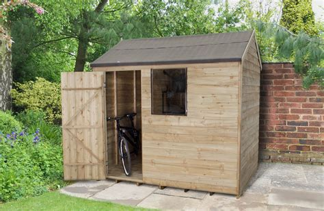 8x6 Pressure Treated Shed by Overlap Pressure Treated 8x6 Apex Shed Forest Garden
