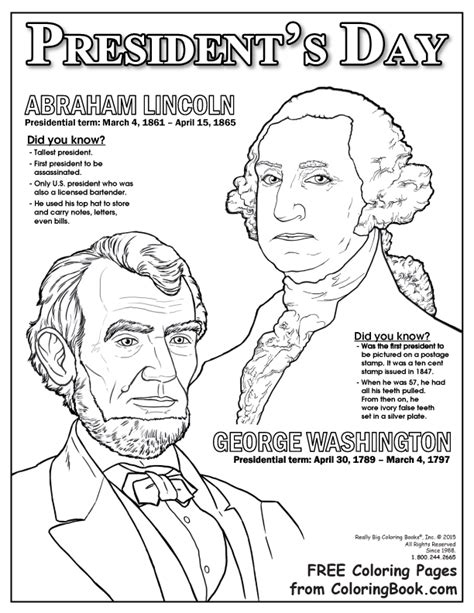 The First Presidents Coloring Pages   Get Coloring Pages