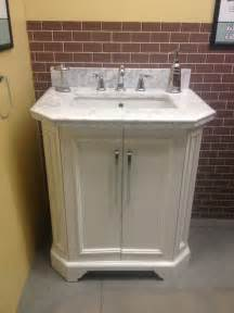lowes bathroom sinks and vanities allen roth delancy 31 quot vanity lowes carrara marble top