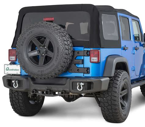 Jeep Jk Rear Bumper Tactik 174 Front Rear Bumper With Led Fog Ls For 07 17