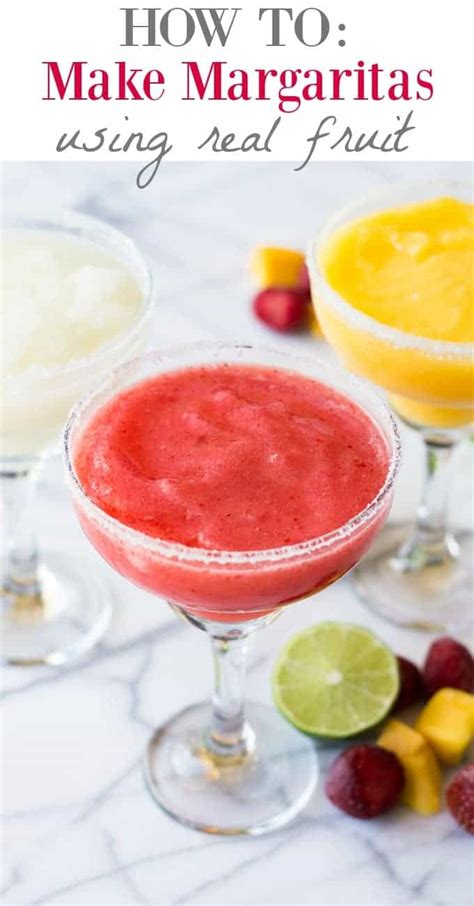 how to make margaritas using real fruit