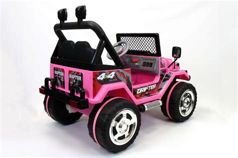 pink kids jeep jeep wrangler style 12v kids ride on car mp3 battery