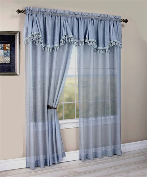 window curtains with attached valance maxwell matte sheer curtain with an attached georgette