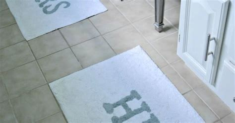 his and hers bathroom rugs made with love by dana his and hers porclain blue