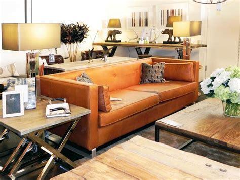 burnt orange leather sofa   essence  casual