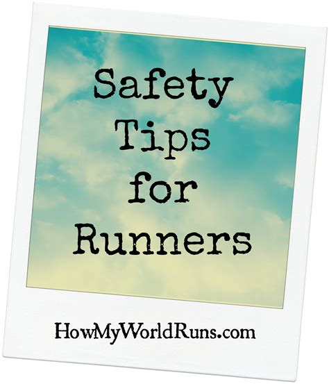 Safety Giveaway Ideas - safety tips for runners personal savers giveaway how my world runs