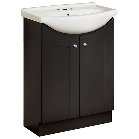Eurostone Vanity magick woods eurostone 24 inch w shaker vanity base in chocolate finish with porcelain top