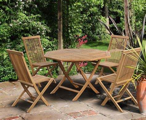 folding patio table and chair set suffolk octagonal folding garden table and chair set