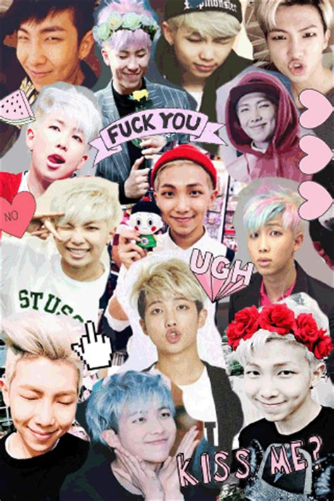 my collage of rap monster bts edit and namjoon