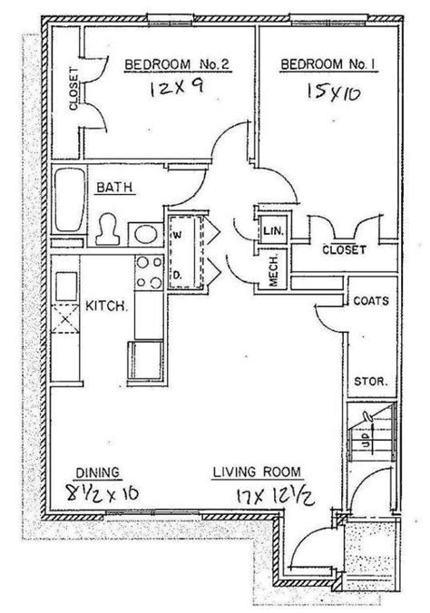 floor plan of a two bedroom flat 2 bedroom apartments westwood apartments floor plans