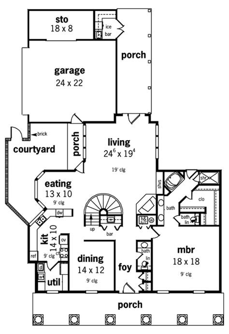 tara floor plan tara 3301 4491 4 bedrooms and 3 baths the house designers