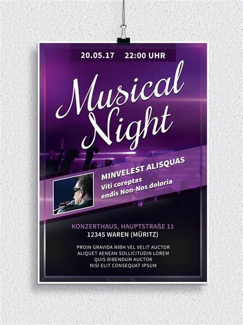 Moderne Flyer Vorlagen Flyer Vorlagen F 252 R Musicals Discos Und Konzerte Psd Tutorials De Shop