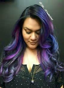 black with colored this new galaxy hair trend is out of this world