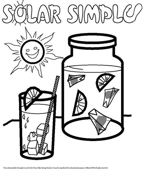 Solar Energy Coloring Pages colouring book