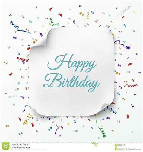 template birthday card illustrator happy birthday greeting card template stock vector image
