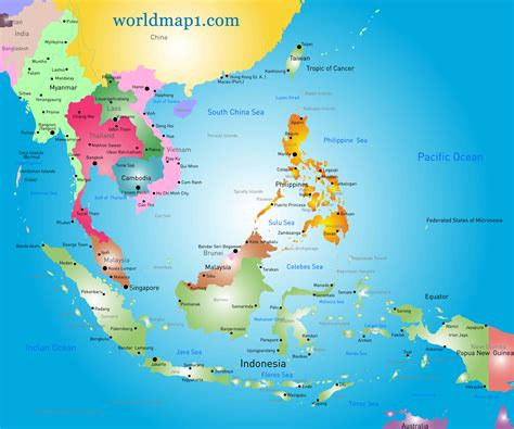 asia oceania map oceania map guide of the world