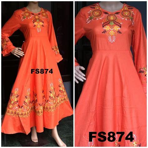 Maxi Leosa 3in1 Pakaian Baju Muslim Baju Gamis Lebaran maxi dress hijabers untuk wanita dan remaja koleksi baju