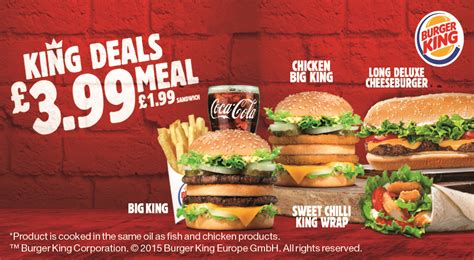 99 Restaurant Gift Card Specials - king deals 163 3 99 meal from burger king all student deals