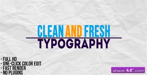 typographic presentation after effects project