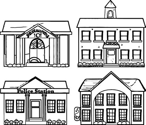 university buildings coloring pages coloring pages