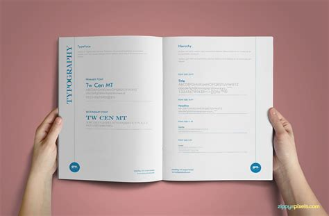 corporate identity manual template minimalistic branding guidelines template brandbook
