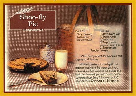 shoo recipe shoo fly pie recipe the amish