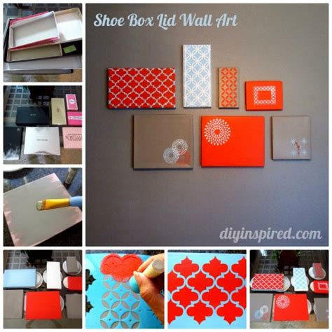 shoe box diy projects diy shoe box lid wall decoration how to