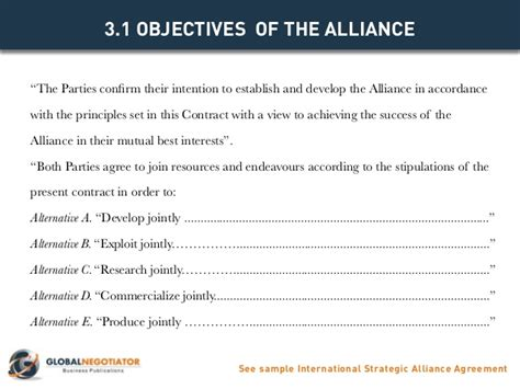 strategic alliance agreement template international strategic alliance agreement contract