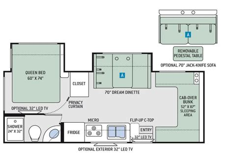 floor plans four winds 24f virtual rv showroom factory direct order little dealer