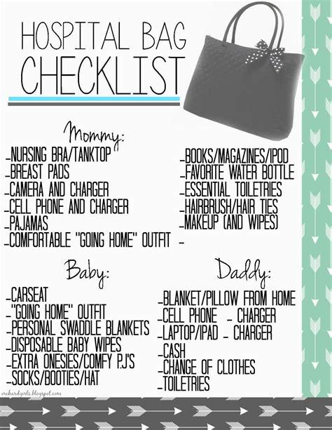 printable pregnancy to do list orchard girls free printable hospital bag checklist