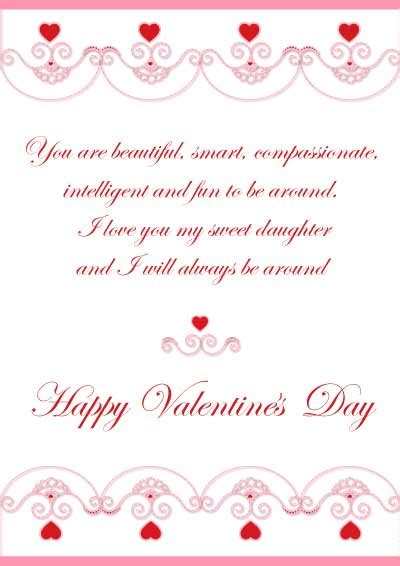 printable valentines card for daughter free printable valentine cards for son and daughter