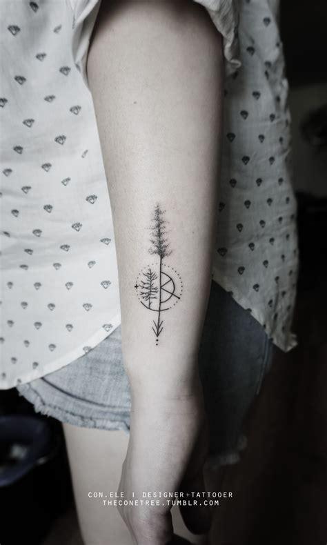 minimalist mountain tattoo tattoo collections minimalist tree s with geometric elements http