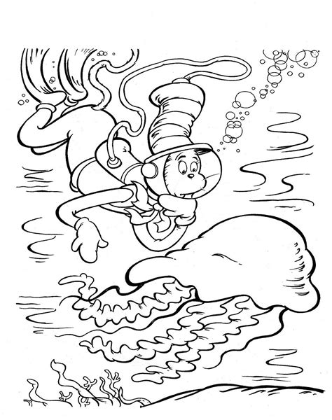 printable coloring pages cat in the hat free printable cat in the hat coloring pages for