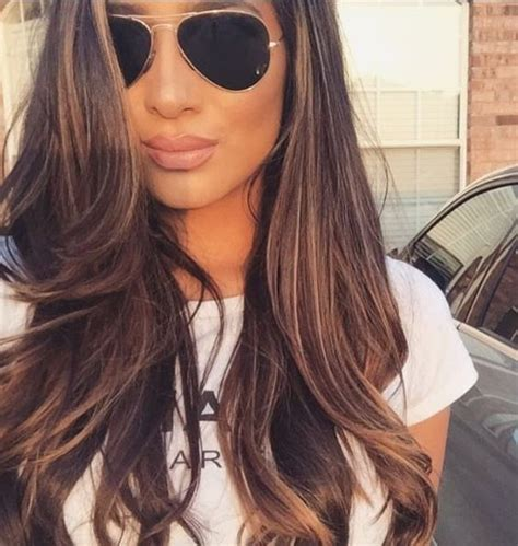 long brown hairstyles with parshall highlight how to go 6 tintes con mechas color caramelo que amar 225 s