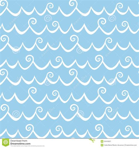 wave pattern no background sea waves with curls seamless background royalty free