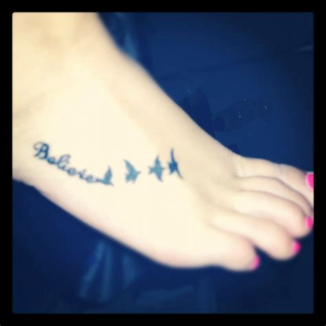 believe tattoo designs on foot believe foot birds s