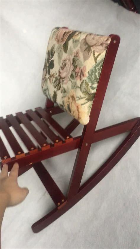 Folding Rocking Foot Stool by Rocking Footstool Folding Wooden Footrest Ottoman