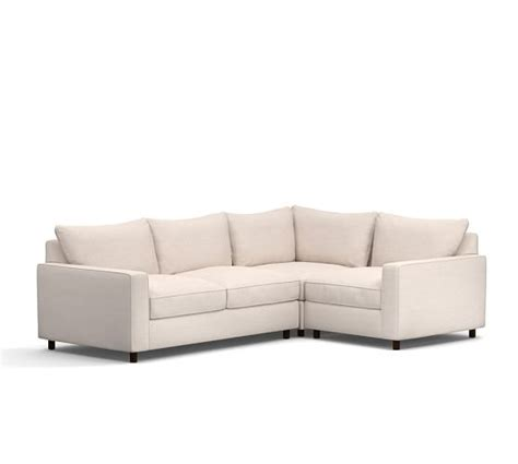 Pb Sectional by Pb Comfort Square Arm Upholstered 3 Sectional With