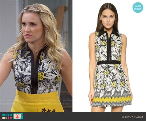 Dress Sabrina Lace Tile 1 wornontv gabi s black and yellow floral zip front dress