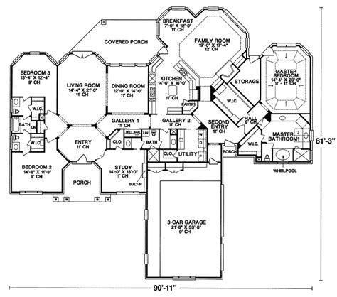 oakley manor luxury ranch home plan 026d 0163 house plans and more